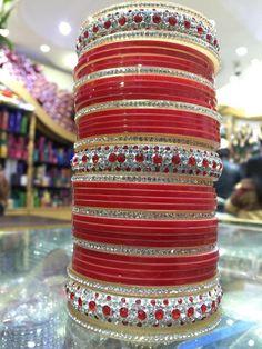 Punjabi chura Wedding Chura, Wedding Bride, Punjabi Chura, Bridal Chuda, Punjabi Culture, Bridal Bangles, Bollywood Jewelry, Punjabi Wedding, Bangle Set