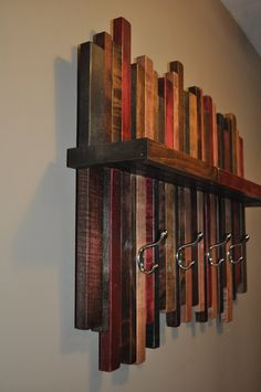 Reclaimed Wood Coat Rack Rustic Wood Coat by Lynnsrusticcreations