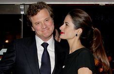 How cute is this photograph of Colin and Livia Firth?