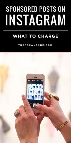 How Much to Charge for a Sponsored Instagram Post — via @TheFoxandShe