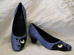 Princess Luna/ Nightmare Moon MLP Glitter Shoes by aishavoya, $55.00