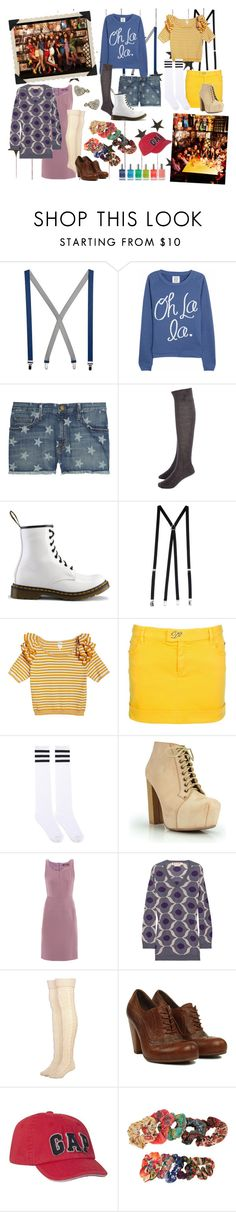 """""""SNSD """"Oh!"""" Album Inspired Look - Retro Party"""" by migeeringler ❤ liked on Polyvore featuring Polaroid, American Apparel, Zoe Karssen, Current/Elliott, D&G, Dr. Martens, Monki, Dsquared2, MaxMara and Marni"""