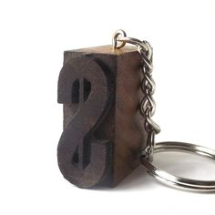 letterpress keychain vintage 1920's symbol cash wood stamp printer block old antique printing patina small mini miniature cash money sign by RecycleBuyVintage on Etsy