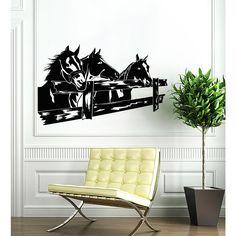 Horses Farm Vinyl Sticker Wall Art