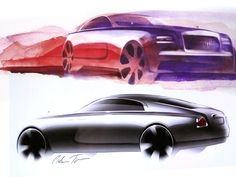 Rolls-Royce Wraith Design Sketches