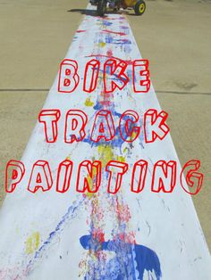 Paint with Bikes!!! Craft Activities For Kids, Summer Activities, Crafts For Kids, Activity Ideas, Play Activity, Preschool Activities, Outdoor Activities, Crafty Projects, Projects For Kids