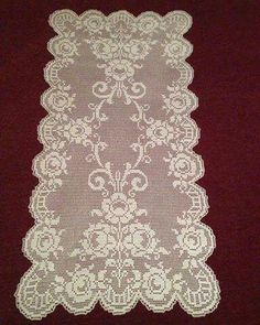 Crochet Dollies, Crochet Doily Patterns, Thread Crochet, Crochet Motif, Knit Crochet, Crochet Curtains, Crochet Tablecloth, Lace Stencil, Filet Crochet Charts
