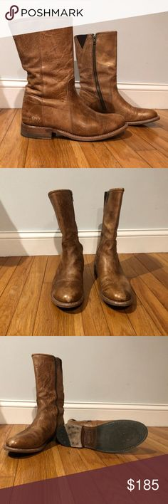 Bed Stu boots Bed Stu 9 1/2 mid calf boots : These are seriously HIGHLY distressed, NOT damaged, especially made to look very weathered and worn! A specific style to Bed Stu.   Worn twice. Perfect condition. Bed Stu Shoes Ankle Boots & Booties