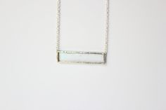 Clear glass with nickle-free, sterling silver chain in a lead-free solder…