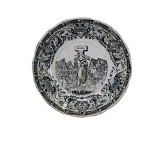 Joan of Arc Burning at the Stake Antique French Faience Wall Plate – Charmantiques Saint Joan Of Arc, St Joan, Plates On Wall, French Antiques, Burns, Stamp, Ceramics, Design, Ceramica