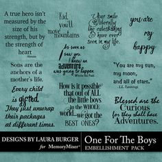 One for the Boys WordArt Pack Scrapbook Page Design Baby Scrapbook Pages, Scrapbook Titles, Card Sentiments, Happy Heart, Kids Cards, Page Design, Word Art, Digital Scrapbooking, Art Quotes
