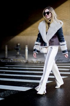 Streetstyle on the New York Fashion Week, Snow can't beat the fashionista's