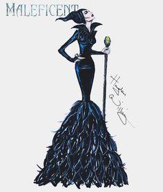 Hayden Williams Disney Villains Maleficent Collection: Mistress of all Evil Hayden Williams, Moda Fashion, Fashion Art, Fashion Design, Disney Style, Disney Art, Disney Divas, Illustration Mode, Disney Villains