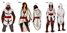 OC Assassin's Creed Concept Art for Cosplay by ~CaiFox on deviantART