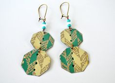 Earth Friendly Repurposed Vintage Tin Earrings/ by NostalgicSummer, $21.00