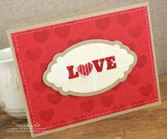 Love Card by Nichole Heady for Papertrey Ink (December 2012)