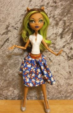 BUDGET BUY top and skirt set for monster high dolls by moonsight68, $5.50