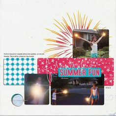 Summer Bucket List blog hop kit papers/elements (lilypad); Sahlin Studio template; brush by Heather T; word art by Ali Edwards; font: arial