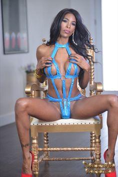 Natassia Dreams Sexy Blue Outfit