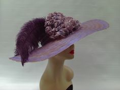 Kentucky Derby hat in dusty lavender and gold by crowninglorihats, $79.95