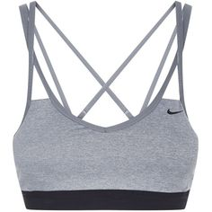 Nike Pro Indy Sports Bra ($38) ❤ liked on Polyvore featuring activewear, sports bras, nike sportswear, nike, nike sports bra and nike activewear