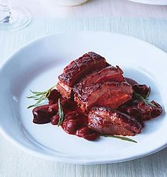 Recipes - Duck with cherry sauce