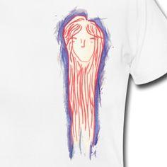 """""""Long Haired Girl"""" Tee, Not Centered, Women"""