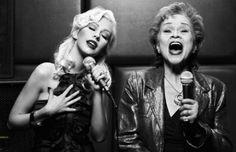 Christina Aguilera & Etta James [this pictures is amazing.]