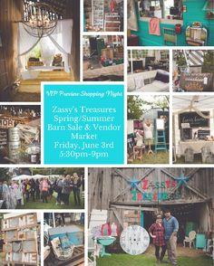 #ZassysBarnSale Spring/Summer Barn Sale & Vendor Market 2016  #BarnSale #ohio #asseenincolumbus #GroveCity #Vintage #MadeLocal #Shopping #Barns