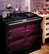 AGA 6-4 Range Cooker in Aubergine.  Available from Edwards & Godding