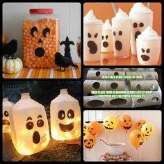 Gallon jug luminaries