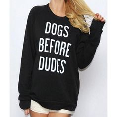 """Product Code:OSY155 Details: - Black - Letter print - Round neck - Regular wash - Long sleeve - Fabric: Cotton, Polyester Free Shipping! REFERENCE: Model try on SIZE M, height 5'9"""", weight 155 lbs, bust 36C Size(inch) US Bust Shoulder Length S 4/6 35.5 14.2 24.8 M 8/10 37.5 15 25.2 L 12/14 39.5 15.7 26.4 XL 16 41.5 16.5 26.8 size chart:please allow 0.4""""-0.8"""" differs due to manual measurement"""