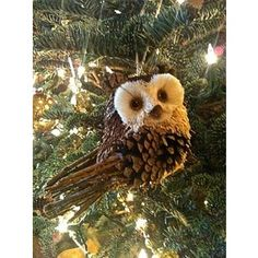 pine cones ornaments | Handmade Holidays / Owl tree ornament made from a pine cone ...