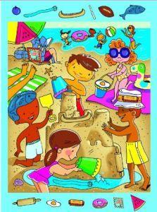 Encuentra los objetos escondidos en la playa