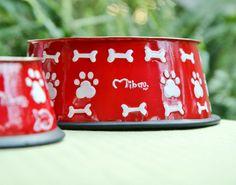Dog Bowl Red www.mibau.it