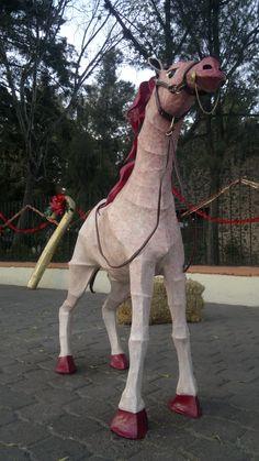 caballo para nacimiento - cartoneria mexicana - juanjo infante