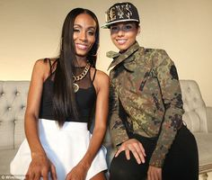 Old pals: The pair work together on human trafficking charity events (Alicia Keys and Jada Pinkett Smith)