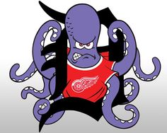 Detroit red wings sports logo octopuss painting detroitredwings pix for al the octopus voltagebd Gallery