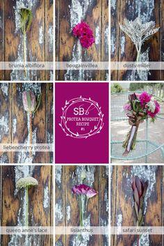 Protea Bouquet Recipe #1: Protea & Bougainvillea | SouthBound Bride