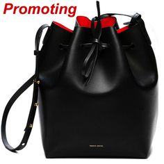 Mansur Gavriel Bucket bag women Pu Leather String Shoulder bag Luxury Bags Famous Designer With Logo printed Mansur Gavriel