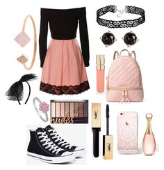 """Regular School Day"" by ks2823 ❤ liked on Polyvore featuring Converse, MICHAEL Michael Kors, Christian Dior, Smith & Cult, Irene Neuwirth, Michael Kors, BERRICLE and New Look"