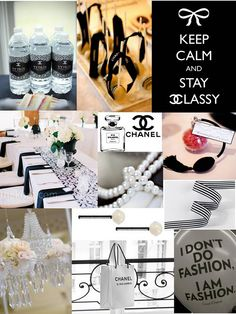 coco chanel baby shower | Coco Chanel inspired Bachelorette Bash