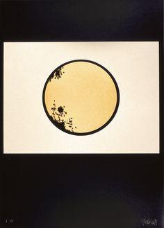 """Ferruccio Bortoluzzi, composizione su nero, 1989. Dal portfolio monografico """"Bortoluzzi"""". Celestial, Art"""