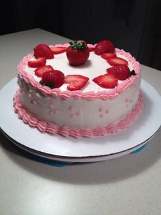 Strawberry Shortcake-  Vanilla cake with vanilla buttercream filling/frosting   On Facebook search Cake Princess and please like my page.