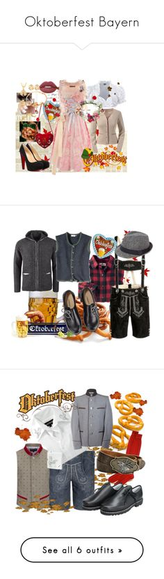 """""""Oktoberfest Bayern"""" by msndahime on Polyvore featuring moda, Iphoria, Herz, House of Harlow 1960, Christian Louboutin, Lime Crime, Topshop, Woolrich, men's fashion e menswear"""