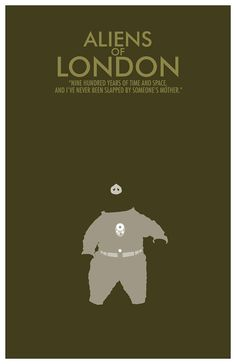 Doctor Who Poster Aliens of London  11x17 Science by TheGeekerie, $18.00