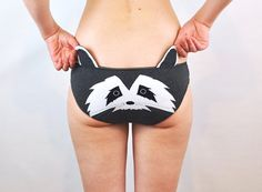 Hey, I found this really awesome Etsy listing at http://www.etsy.com/listing/160062760/panties-with-a-raccoon-face-and-ears