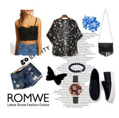 """""""Romwe"""" by adny544 ❤ liked on Polyvore featuring Olivia Burton, Spring, romwe, casualoutfit and springfashion"""