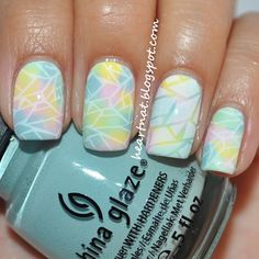 These cute and easy Easter nail art designs are perfect for celebrating the holiday, with pretty pastels, chicks, and bunnies you can't go wrong. Funky Nails, Love Nails, How To Do Nails, Pretty Nails, Easter Nail Designs, Cute Nail Designs, Simple Designs, Diy Easter Nails, Nails Polish
