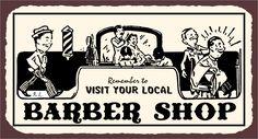 Metal Art Hairdresser Barber Retro Tin
